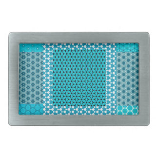 Abstract Turquoise Pattern Belt Buckles