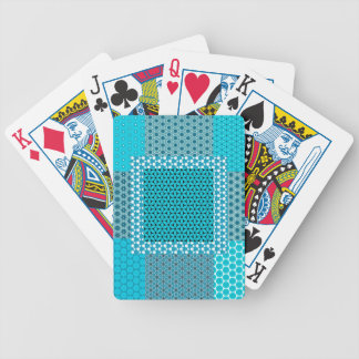 Abstract Turquoise Pattern Bicycle Playing Cards