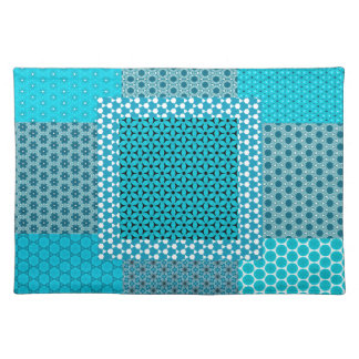 Abstract Turquoise Pattern Placemat