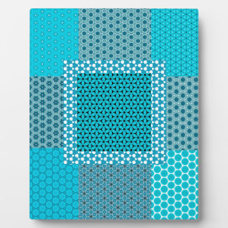 Abstract Turquoise Pattern Plaque