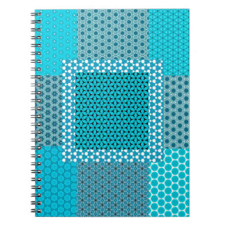 Abstract Turquoise Pattern Spiral Notebook