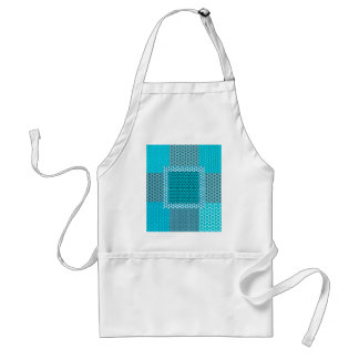 Abstract Turquoise Pattern Standard Apron
