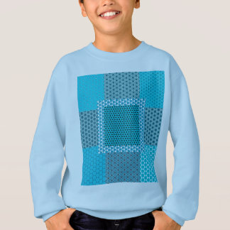 Abstract Turquoise Pattern Sweatshirt