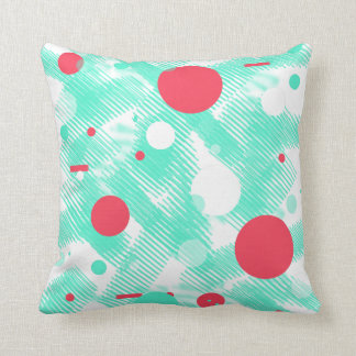 Abstract Turquoise Peach Throw Pillow