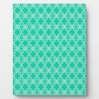 Abstract turquoise plaque