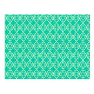 Abstract turquoise postcard