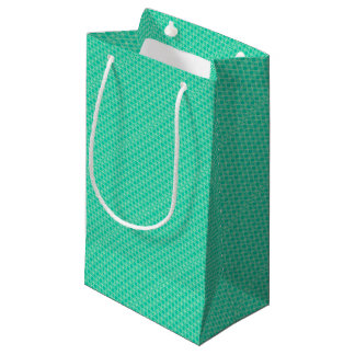 Abstract turquoise small gift bag