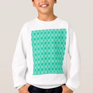Abstract turquoise sweatshirt