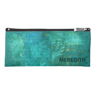 Abstract Turquoise Watercolor Pattern Pencil Case