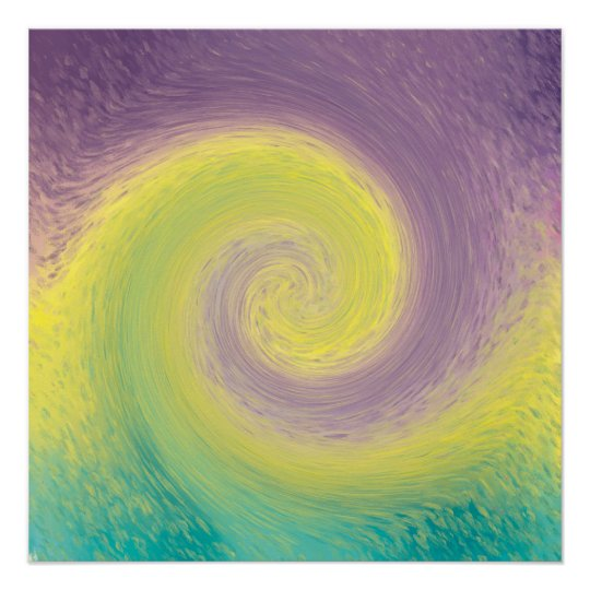 Abstract Twirl Poster