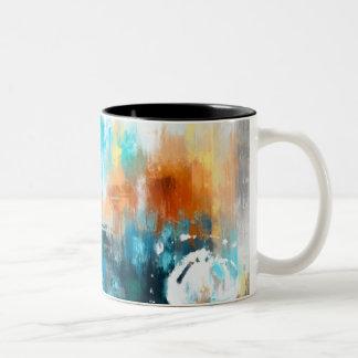 Abstract Two-Tone Coffee Mug