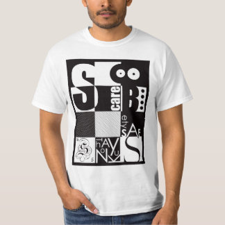 Abstract Typography T-Shirt