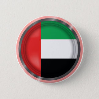 Abstract UAE Flag, United Arab Emirates Button