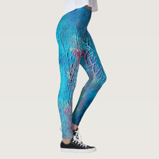Abstract Undersea Painting   Leggings