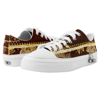 Abstract Unique Low-Top Sneakers