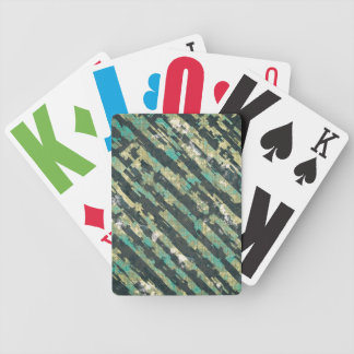 Abstract Urban Distorted Lines Background Blue Bicycle Playing Cards
