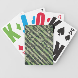 Abstract Urban Distorted Lines Background Green Bicycle Playing Cards