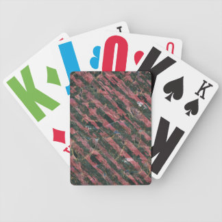 Abstract Urban Distorted Lines Background Pink Bicycle Playing Cards