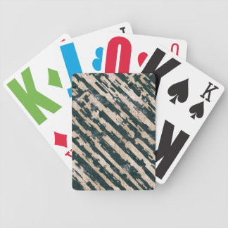 Abstract Urban Distorted Lines Background White Bicycle Playing Cards