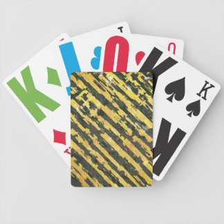 Abstract Urban Distorted Lines Background Yellow Bicycle Playing Cards