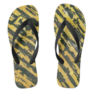 Abstract Urban Distorted Lines Background Yellow Flip Flops