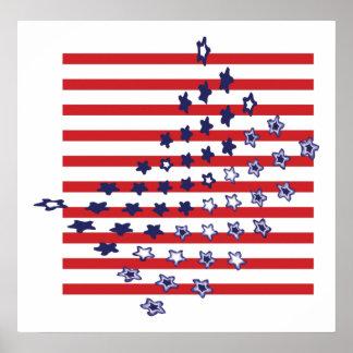 Abstract USA Flag Posters and Prints