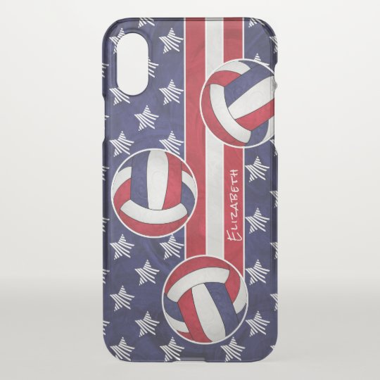 abstract USA flag women's volleyball iPhone X Case