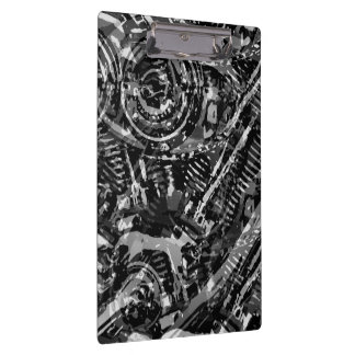 Abstract V-Twin BW Clipboards