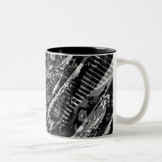 Abstract V-Twin BW Coffee Mug