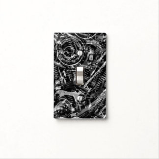 Abstract V-Twin BW Switch Plate Covers