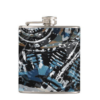 Abstract V-Twin Flasks