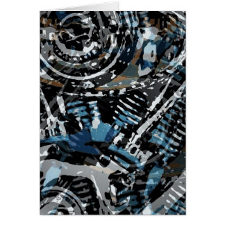 Abstract V-Twin Greeting Card