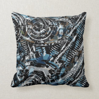 Abstract V-Twin Pillow