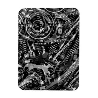 Abstract V-Twin Rectangular Photo Magnet