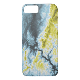 Abstract Variations- Connecticut- Blue to Yellow iPhone 8/7 Case