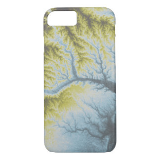 Abstract Variations- Georgia- Blue to Yellow iPhone 8/7 Case