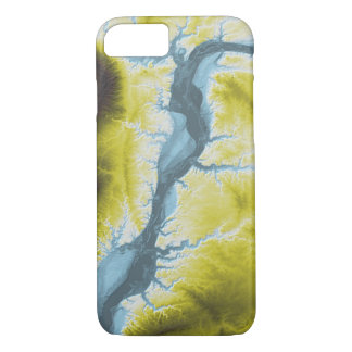Abstract Variations- Illinois- Blue to Yellow Case-Mate iPhone Case