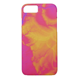 Abstract Variations- Illinois- Pink to Yellow iPhone 8/7 Case