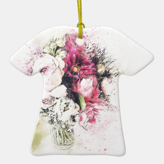 Abstract vase of flowers for wedding ceramic T-Shirt ornament