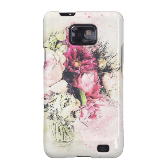Abstract vase of flowers for wedding galaxy s2 case