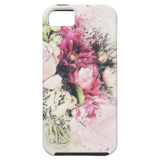 Abstract vase of flowers for wedding iPhone 5 cases