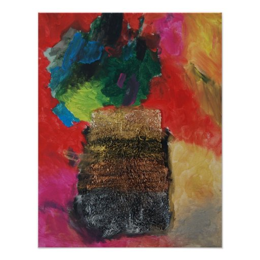 Abstract vase poster