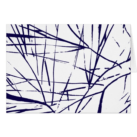 Abstract Venation Blank Card