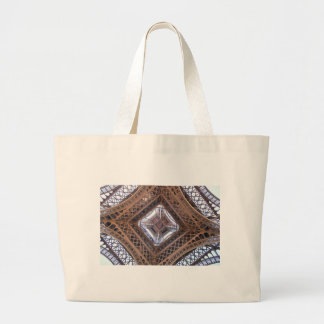 Abstract view of Eiffel Tower Large Tote Bag