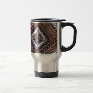 Abstract view of Eiffel Tower Travel Mug