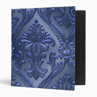 Abstract Vintage Aluminum Pattern Vinyl Binder