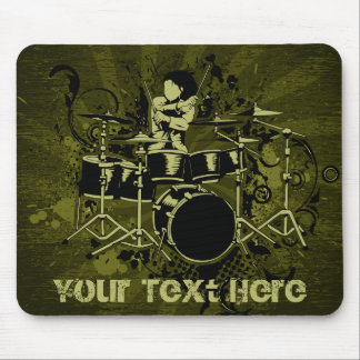 Abstract Vintage Drummer Mousepad