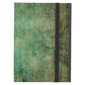 abstract vintage grunge dark green texture iPad air cases