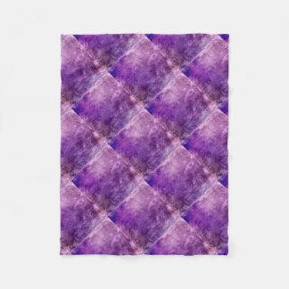 Abstract violet fleece blanket