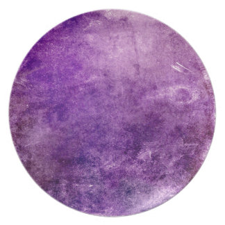 Abstract violet party plates